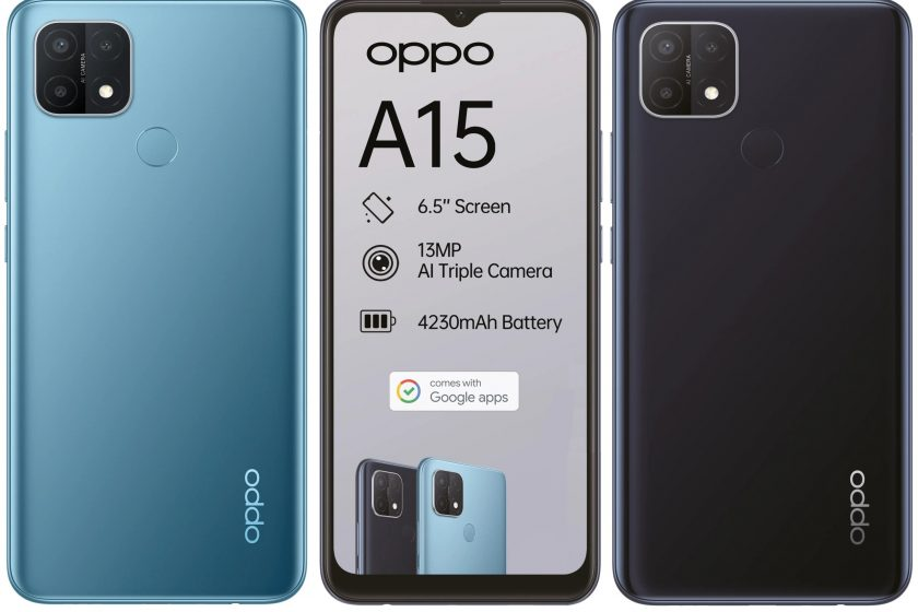 Oppo A15 Design Quality